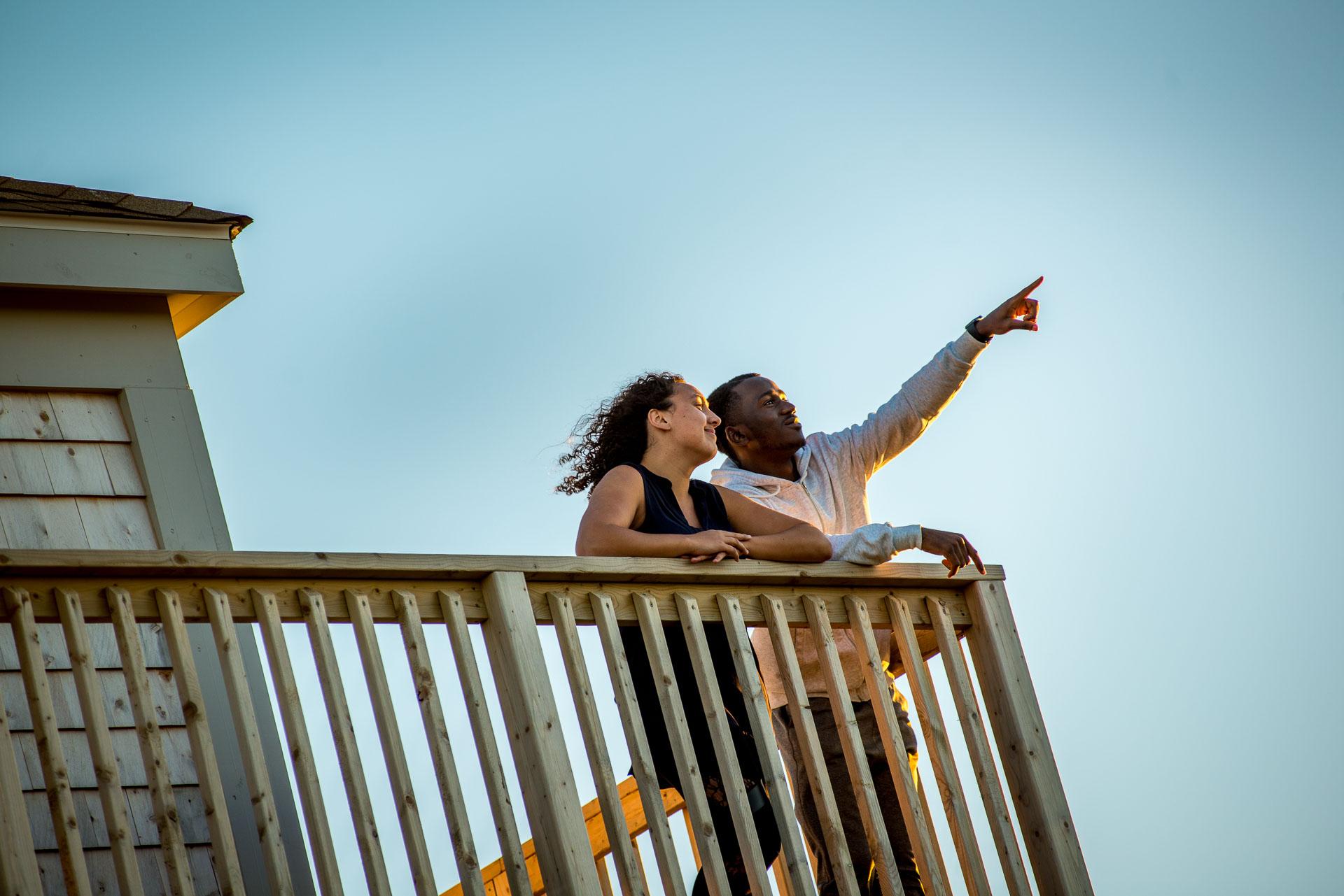 Jean-Paul Khali sur le phare de La Pointe